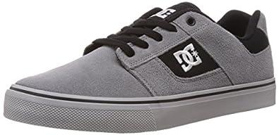 DC Men's Bridge Skate Shoe, Grey/Grey/Black, 6.5 M US