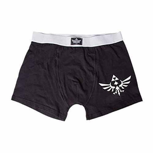 Nintendo The Legend Of Zelda - Logo Boxer Nero/Grigio S