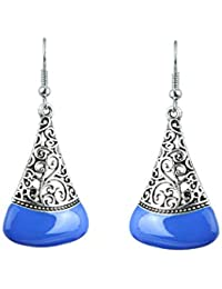 Waama Jewels Dangle & Drop Earring Silver Plated College Wear Oxidised Earring For Girl Artificial Jewellery Vintage...