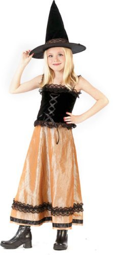 Kid's Elegant Witch Costume (Size:Medium 810)
