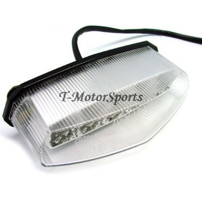 TMS® Motorcycle Dual Sport ATV Quad Dirt Bike LED Brake Crystal Tail Brake Light For Honda Yamaha Banshee Warrior Custom Chopper Supermoto KTM Harley Davidson Cafe Racer Mx Street Fighter Suzuki Dr LTZ Модель - фото 7