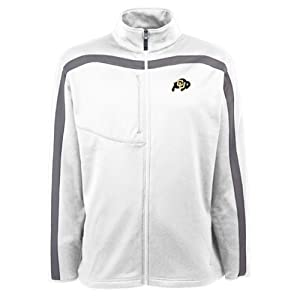 Colorado Buffaloes Jacket - NCAA Antigua Mens Viper Performance Jacket White by Antigua