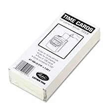 Lathem Time E7-100 Universal 2-Sided Time Cards For 7000E Time Recorder, Numbered 1-100, 100/Pack
