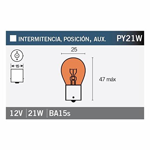 Glühlampe orange PY21W BAU15s 12V 21W