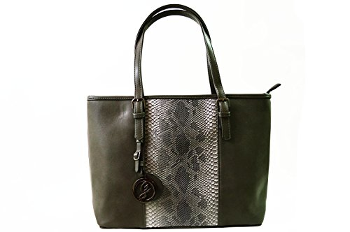 Gallantry sac cours fille, Borsa a spalla donna nero Grey(Serpent)