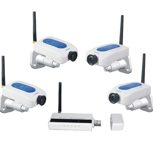 4CH Digital Wireless 4 Cameras Internet Viewing Security Security System CCTV