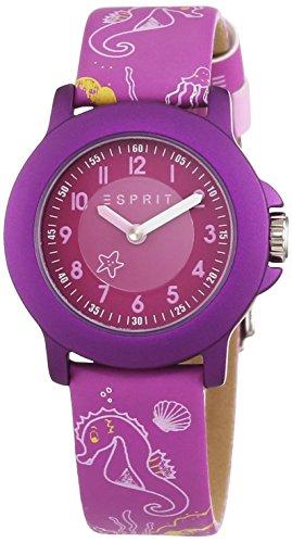 Esprit - ES103454013 - Montre Mixte - Quartz - Analogique - Bracelet cuir violet