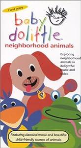 amazoncom baby dolittle neighborhood animals vhs baby