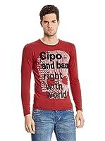 Cipo & Baxx Camiseta Manga Larga (Burdeos)