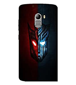 PrintDhaba Dual Mask D-3333 Back Case Cover for LENOVO K4 NOTE A7010a48 (Multi-Coloured)