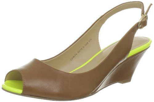 Chocolate Schubar - Sandali, Donna, Marrone (Marron (Tan Neon Lime)), 36