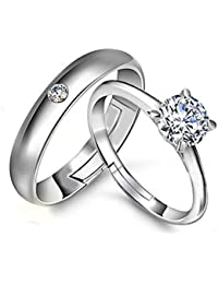 Adjustable Couple Rings For Couples Ring For Love 19 Likes Engagement Wedding Gifts Ring Sets Men Women:ALRG0362SL