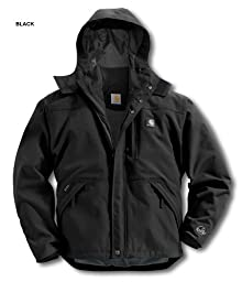 Carhartt Men\'s Shoreline Jacket Waterproof Breathable Nylon,Black  (Closeout),X-Large