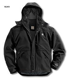 Carhartt Men\'s Shoreline Jacket Waterproof Breathable Nylon,Black  (Closeout),X-Large
