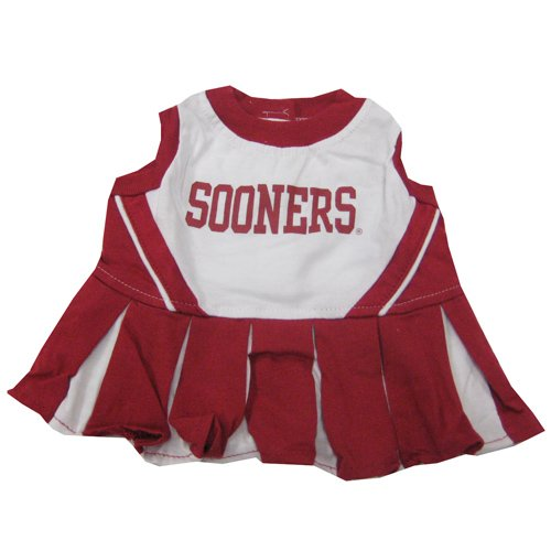 NCAA University of Oklahoma Sooners Cheerleader Dog Outfit, Medium