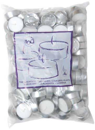 Ivyline S2363056000 39 x 13.5 mm Tealights, Pack of 100
