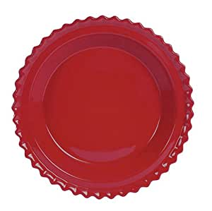 Amazon Com Chantal Ceramic Pie Dish 9 Inch Glossy Red