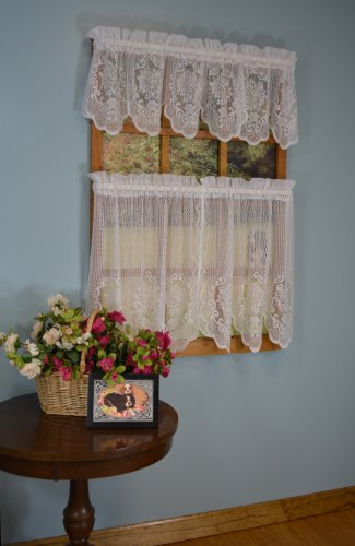Curtain Chic Fairmount Valance, 56 by 13-Inch, White