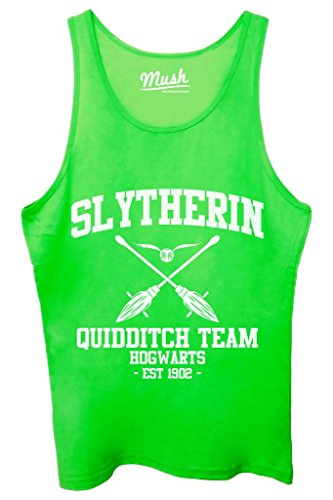 Canotta SLYTHERIN QUIDDITCH HARRY POTTER - FILM by Mush Dress Your Style - Donna-XL-Verde acceso