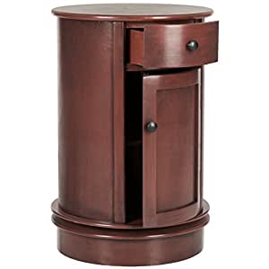 Safavieh American Homes Collection Tabitha Oval Cabinet, Red
