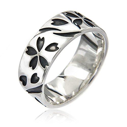 シルバーリング 指輪 メンズ 桜吹雪 桜 さくら サクラ 和 花びら r0720 サイズ19号