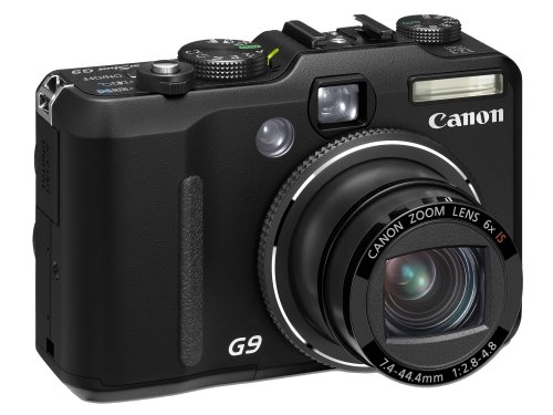 Canon PowerShot G9 Digital Camera  Black (12.1MP, 6x Optical Zoom) 3.0