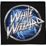 Rockabilia White Wizzard Logo Woven Patch