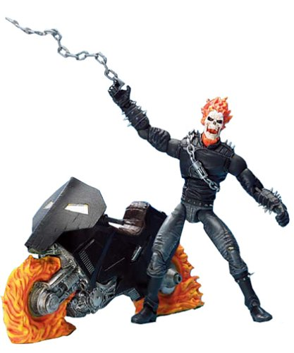 Marvel Legends Series III / 3 - GHOST RIDER with Bonus of 32 Page Comic Book and Collector Wall Mountable Display Stand (Ghost Rider Figure compare prices)