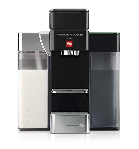 Francis Francis for Illy Y5 Milk Espresso and Coffee Machine Black