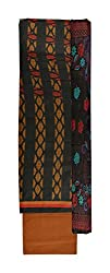 Vidhi Collection Women's Cotton Unstitched Dress Material (Brown)