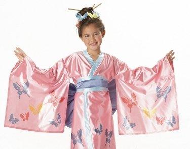 Girls Kids Costume Asian Japanese Geisha Kimono