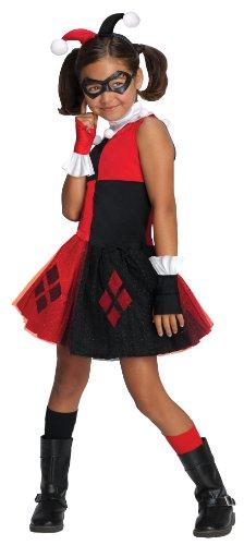 DC Super Villain Collection Harley Quinn Girl's Costume