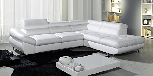Polsterecke-Sofa-FABIO-Wohnlandschaft-mit-Schlaffunktion-Schlafsofa-Schlafcouch-Kunstleder-Webstoff