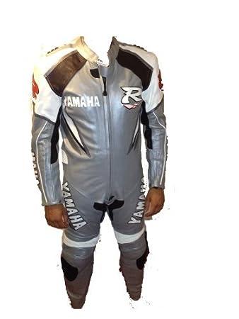 Hommes - Combinaison moto une pièce cuir véritable - Édition argent pour route / piste