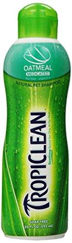 Tropiclean Oatmeal Medicated Pet Shampoo, 20 Ounce