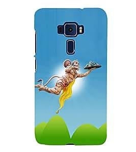 Lord Hanuman 3D Hard Polycarbonate Designer Back Case Cover for Asus Zenfone 3 Deluxe ZS570KL
