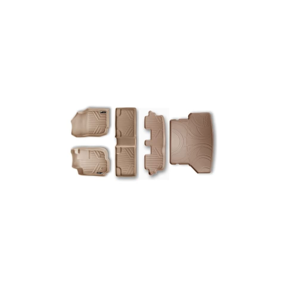 Maxliner MAXFLOORMAT Complete Set Custom Fit All Weather Floor Mats For Select Toyota Fortuner Models   (Tan) Automotive