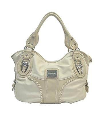"""Sori Collection """"035"""" Hobo Designer Inspired Handbag for Classy Women Beige"""