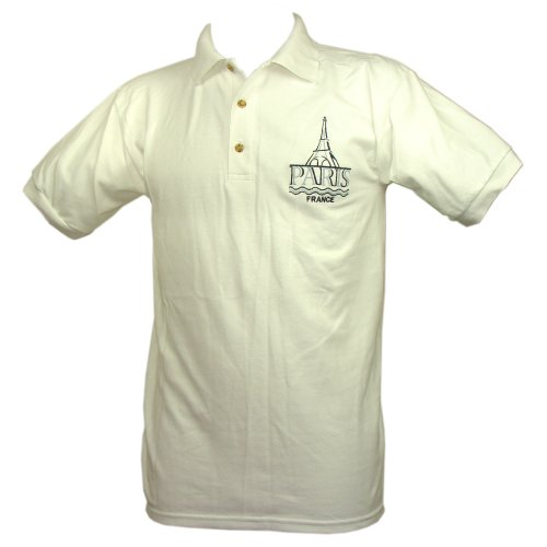 Souvenirs Of France - Paris 'Eiffel Tower' Men'S Polo Shirt - Size : Xl