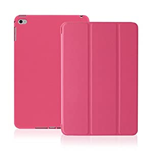 KHOMO iPad Pro Case 12.9 Inch - DUAL Twill Dark Pink Super Slim Cover with Black Rubberized back and Smart Feature (Built-in magnet for sleep / wake feature) For Apple iPad Pro 12.9'' Tablet ... by KHOMO