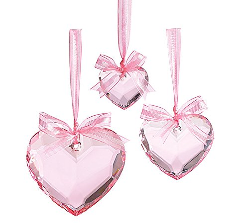 Decor Pink Crystal Hearts
