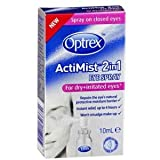 Optrex Actimist 2in1 Eye Spray For Dry +Irritated Eyes 10ml
