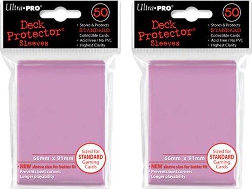 (100x) Ultra PRO Pink Deck Protectors Sleeves Standard MTG Colors
