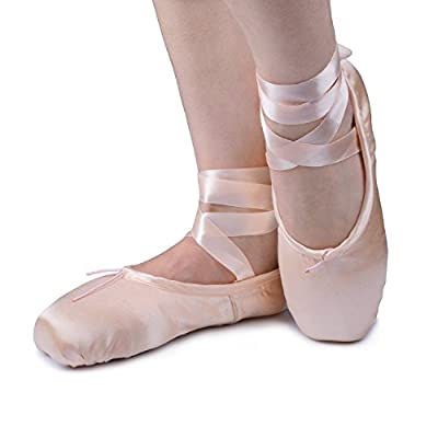 Smartodoors High Quality Ladies Professional Ballet Pointe Dance Shoes With Silica-gel Pointe Shoes Toe Pads
