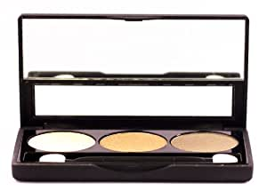 NYX Trio Eye Shadow, Barely There/Silk/Root Beer