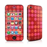 Apple iPhone4/iPhone4S用 スキンシール【Big Dots Red】