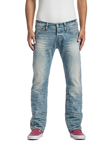 Replay Herren Straight Leg Jeans Tillbor, Gr. W34/L34 (Herstellergröße: 34), Blau (Blue Denim 10) thumbnail