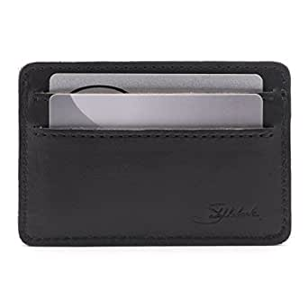Saddleback Leather Front Pocket ID Wallet - Indestructible, Thin, Minimalist ID and Card Holder