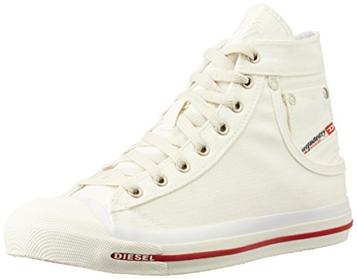 Diesel - 'MAGNETE' EXPOSURE - sneaker m, Sneakers da Uomo, Bianco (Canvas blanc vif), 40 EU