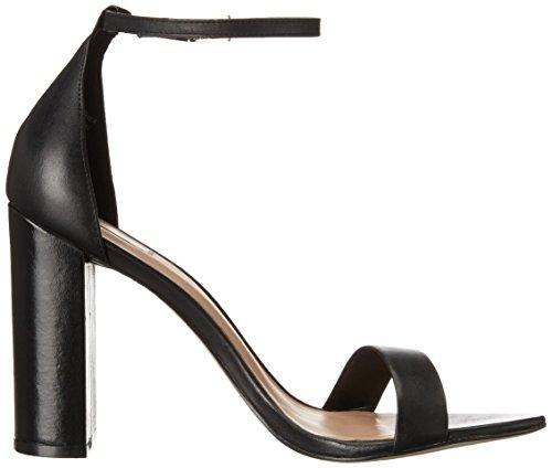 Aldo Women's Margaree Dress Sandal, Black Leather, 8 B US
